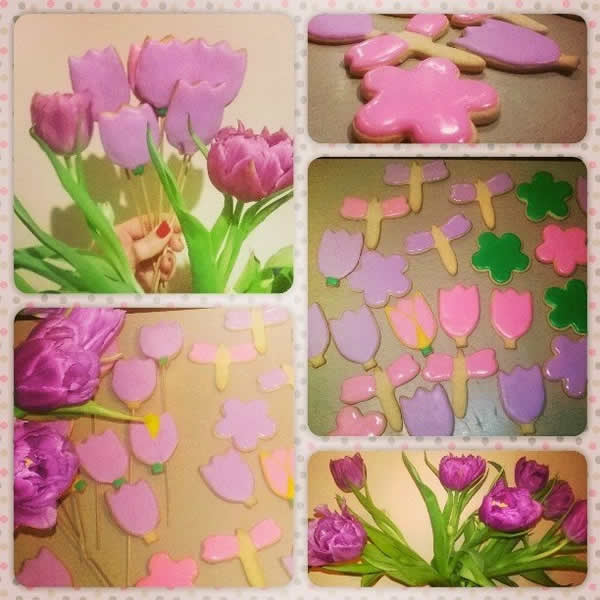 Букет из тюльпанов сьедобный
