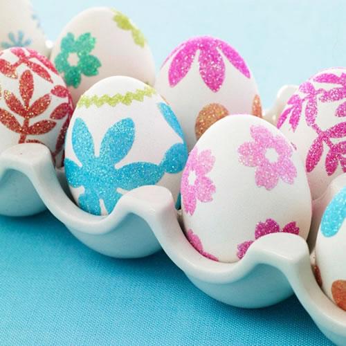 Разукрасить яйца глистером
